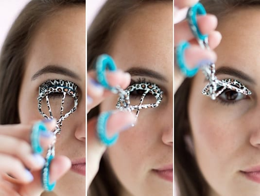 how to curl eyelashes